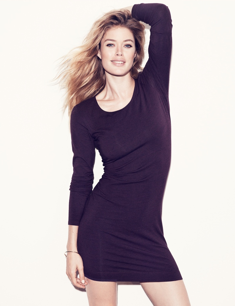 hm basics4 Doutzen Kroes Wears the Basics for H&M Style Update