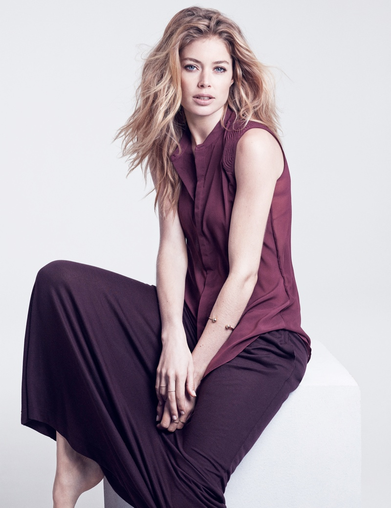 hm basics5 Doutzen Kroes Wears the Basics for H&M Style Update