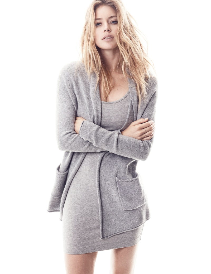 hm basics7 Doutzen Kroes Wears the Basics for H&M Style Update