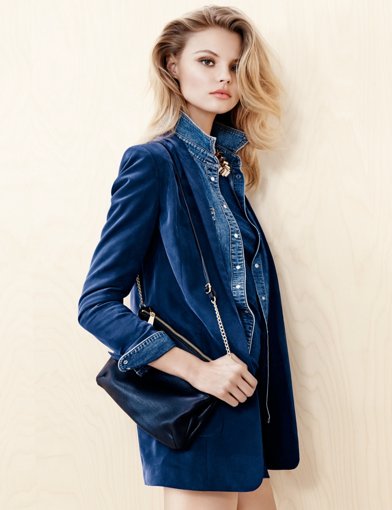 hm denim2 Magdalena Frackowiak Wears Denim on Denim for H&M Trend Update