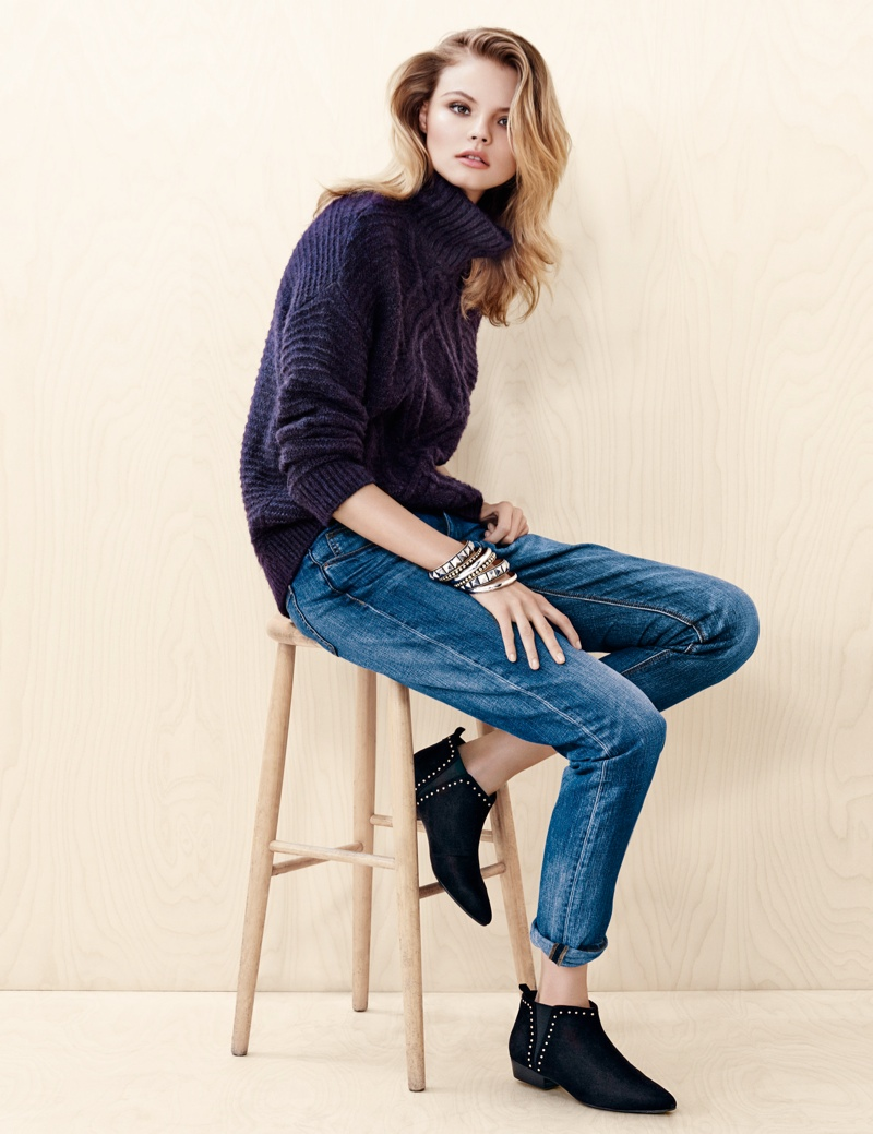 hm denim5 Magdalena Frackowiak Wears Denim on Denim for H&M Trend Update