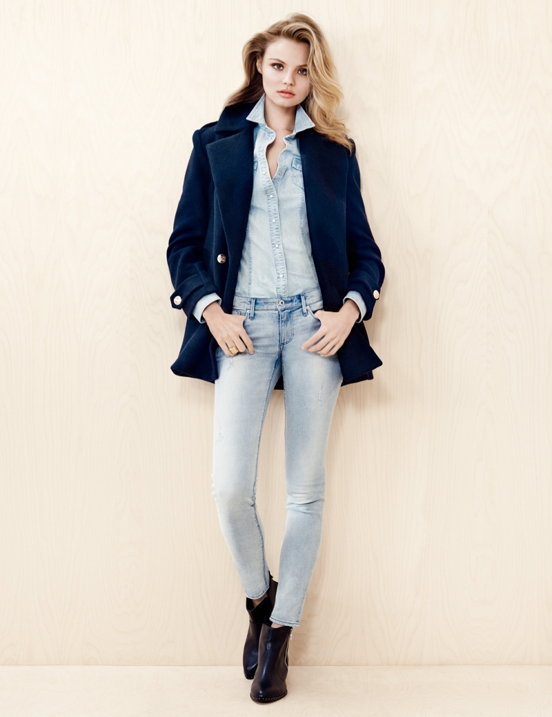 hm denim6 Magdalena Frackowiak Wears Denim on Denim for H&M Trend Update