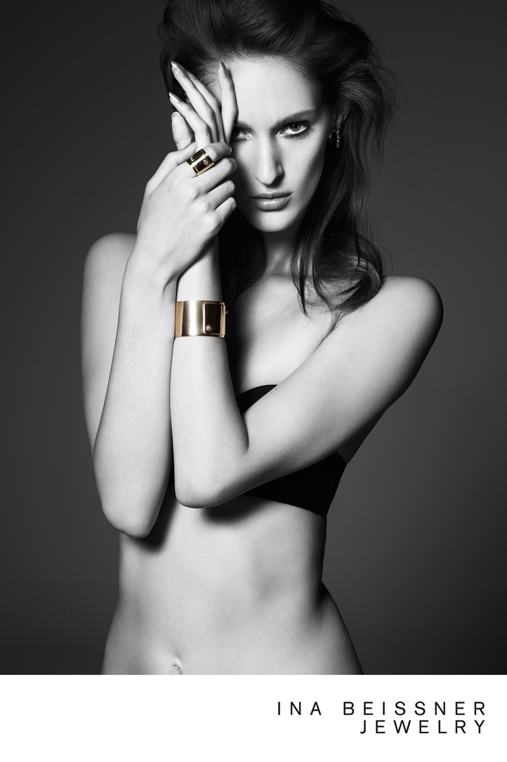 ina beissner1 Franzi Mueller Shines in Ina Beissner Jewelry Ads by Alexx and Anton