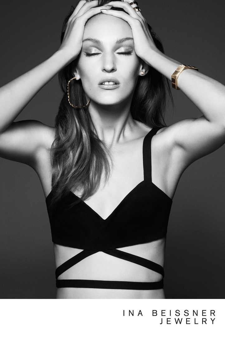 ina beissner2 Franzi Mueller Shines in Ina Beissner Jewelry Ads by Alexx and Anton