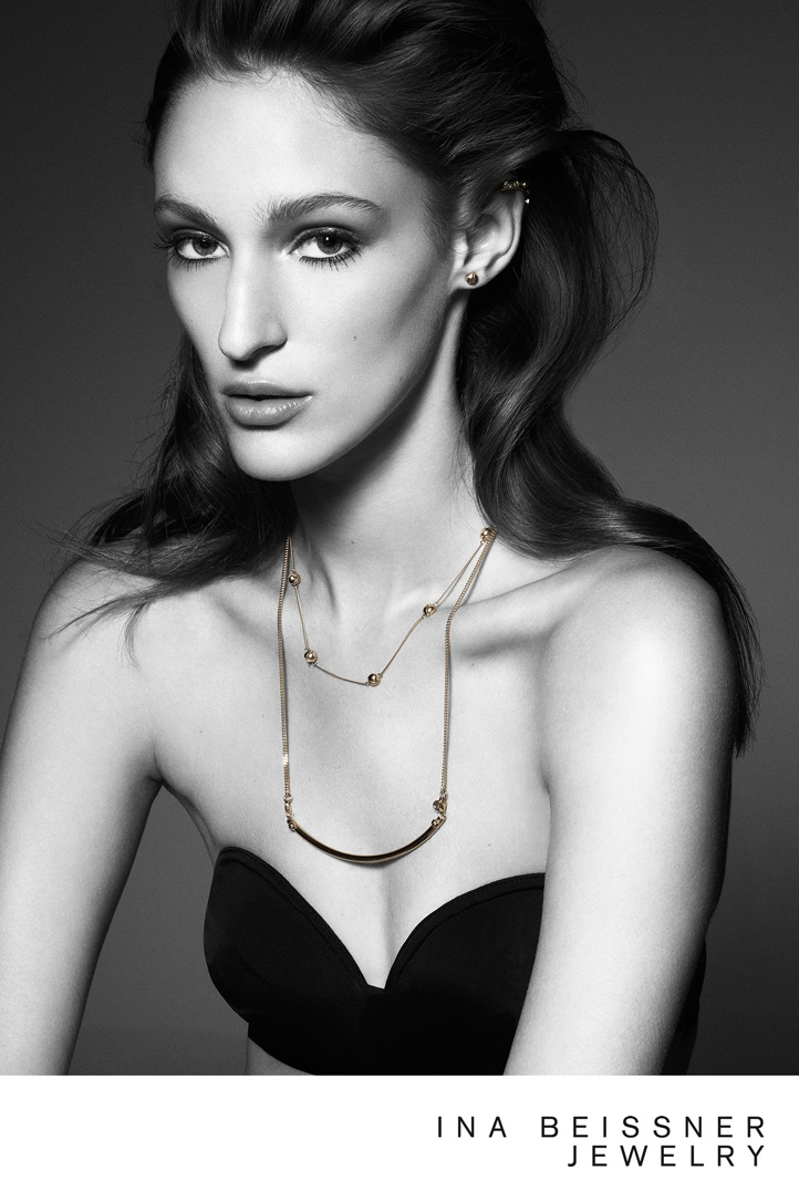 ina beissner3 Franzi Mueller Shines in Ina Beissner Jewelry Ads by Alexx and Anton
