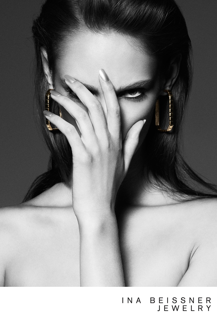 ina beissner5 Franzi Mueller Shines in Ina Beissner Jewelry Ads by Alexx and Anton