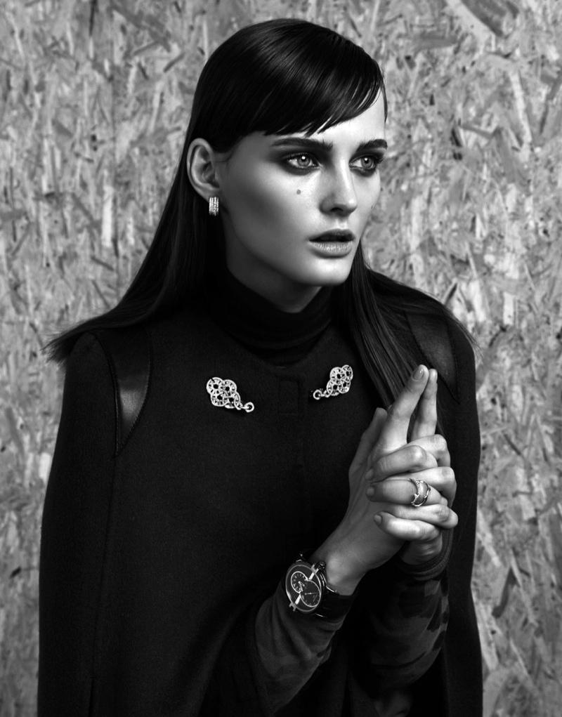 Sibui Nazarenko Models Jewelry for Interview Russia by Nikolay Biryukov