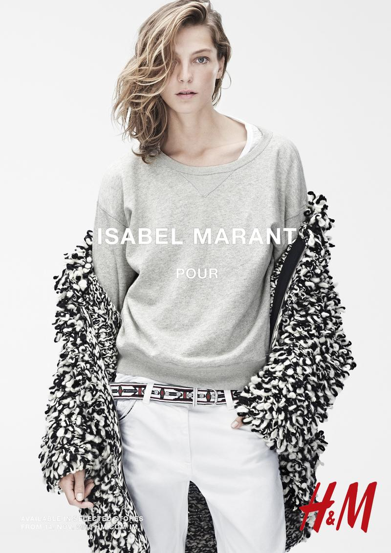 isabel marant hm campaign1 Isabel Marant for H&M Campaign with Daria Werbowy, Milla Jovovich, Alek Wek + More
