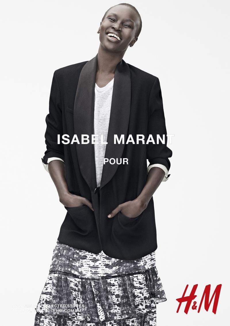 Alek Wek in Isabel Marant x H&M Campaign (2013)