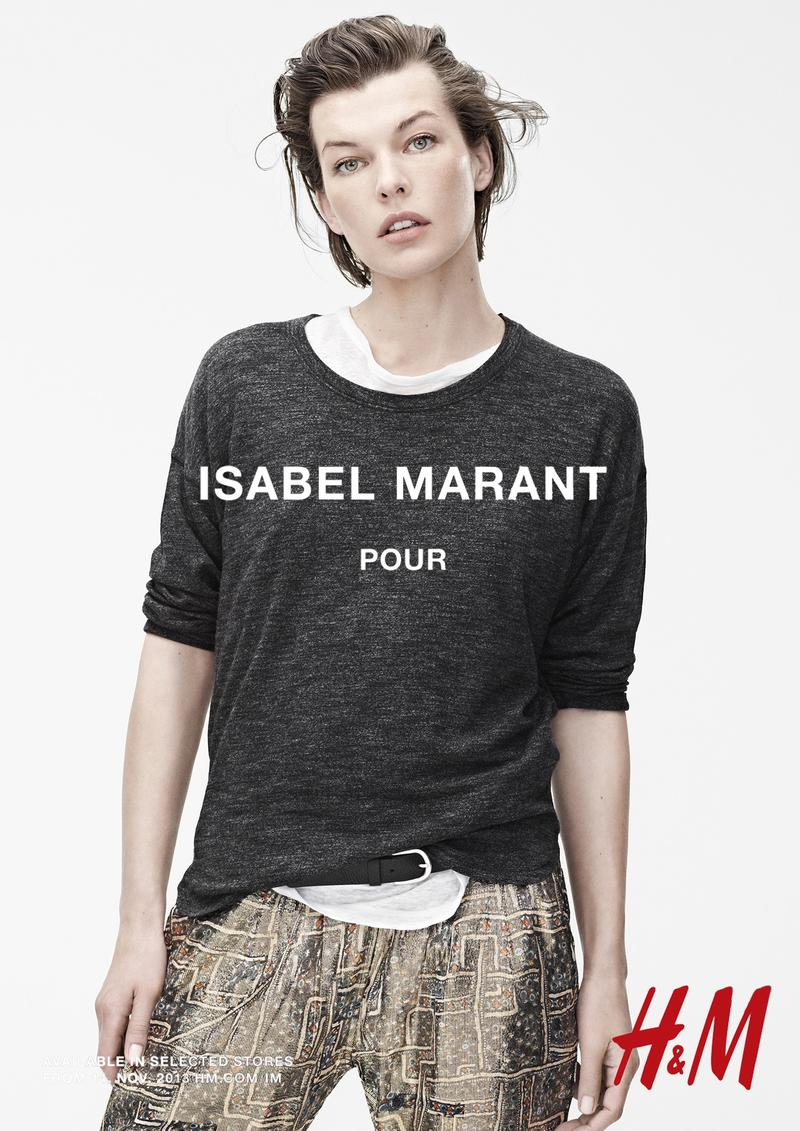 isabel marant hm campaign3 Isabel Marant for H&M Campaign with Daria Werbowy, Milla Jovovich, Alek Wek + More