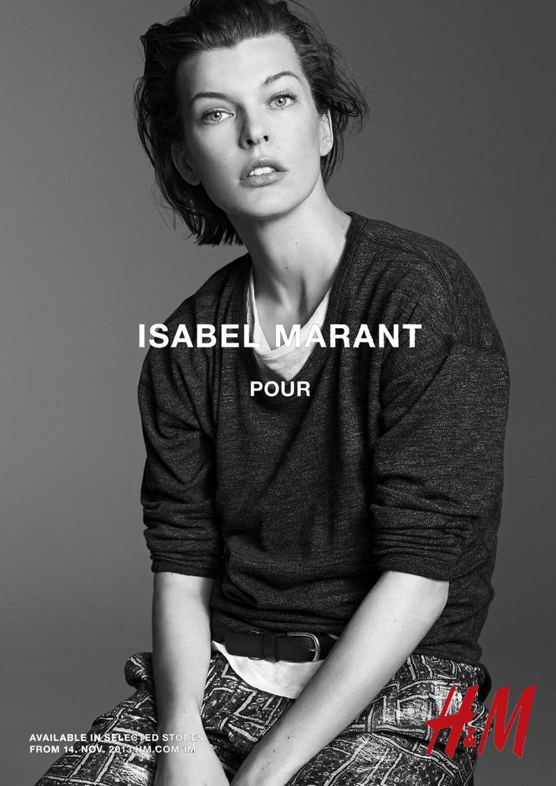 isabel marant hm campaign4 Isabel Marant for H&M Campaign with Daria Werbowy, Milla Jovovich, Alek Wek + More