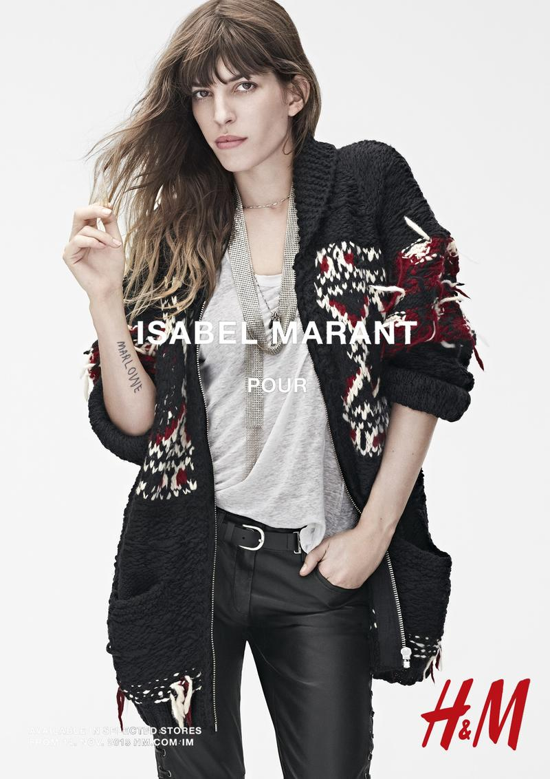 isabel marant hm campaign5 Isabel Marant for H&M Campaign with Daria Werbowy, Milla Jovovich, Alek Wek + More