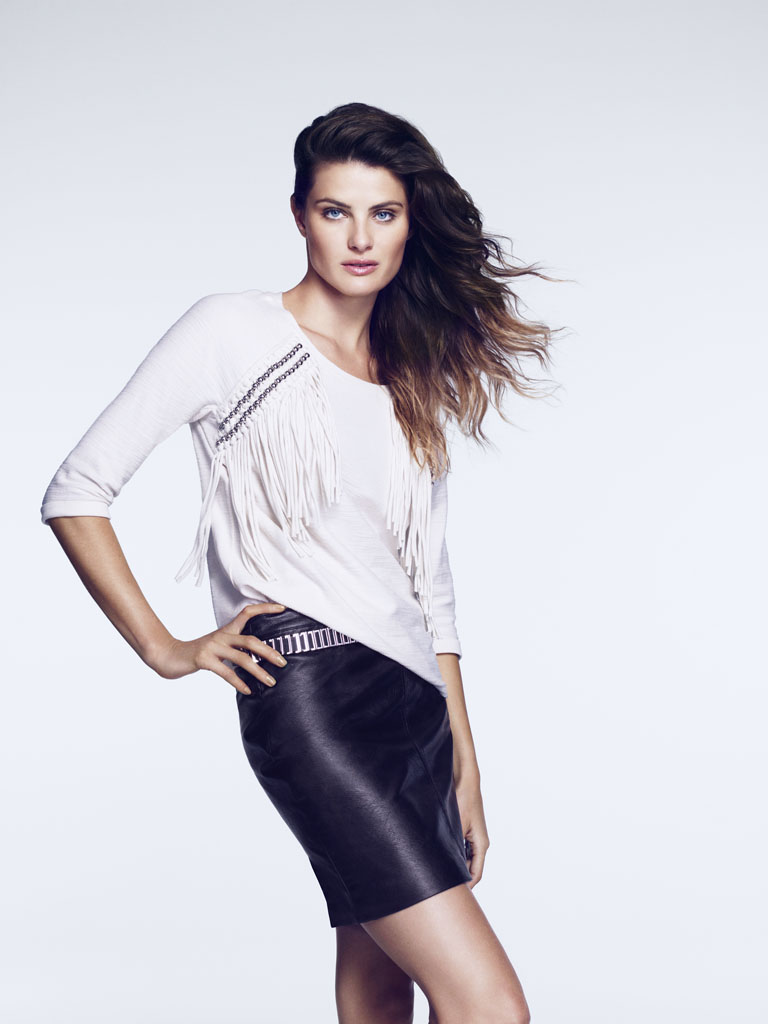 isabeli hm10 Isabeli Fontana Models Outerwear for H&M Shoot by Andrew Yee