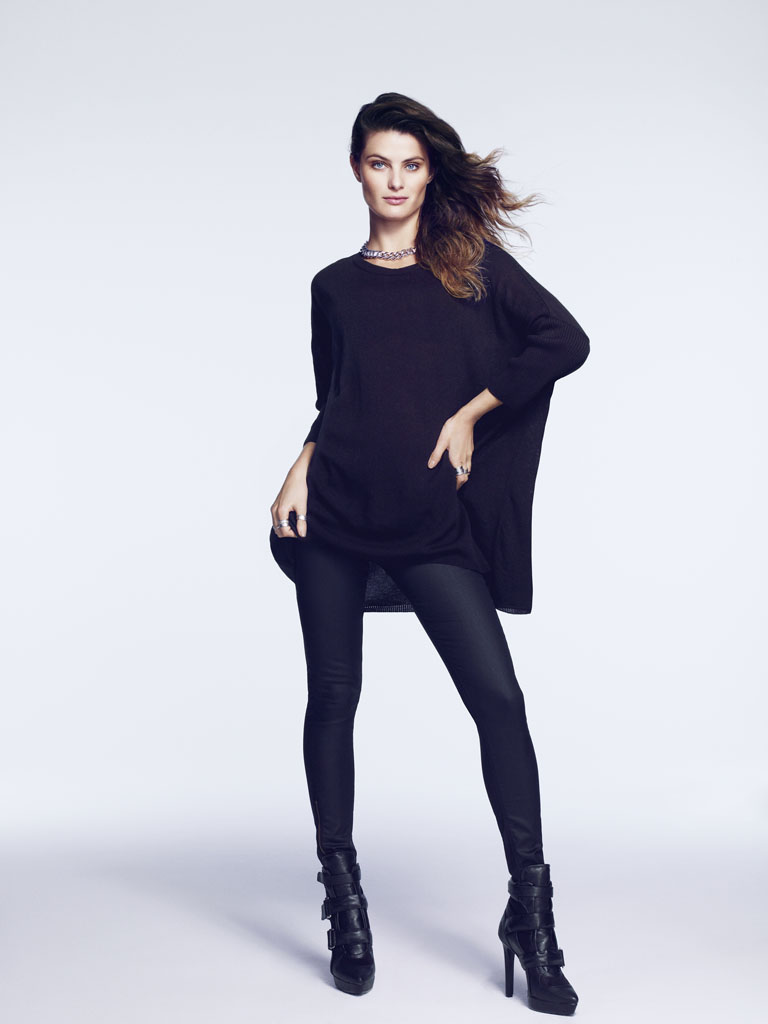 isabeli hm12 Isabeli Fontana Models Outerwear for H&M Shoot by Andrew Yee