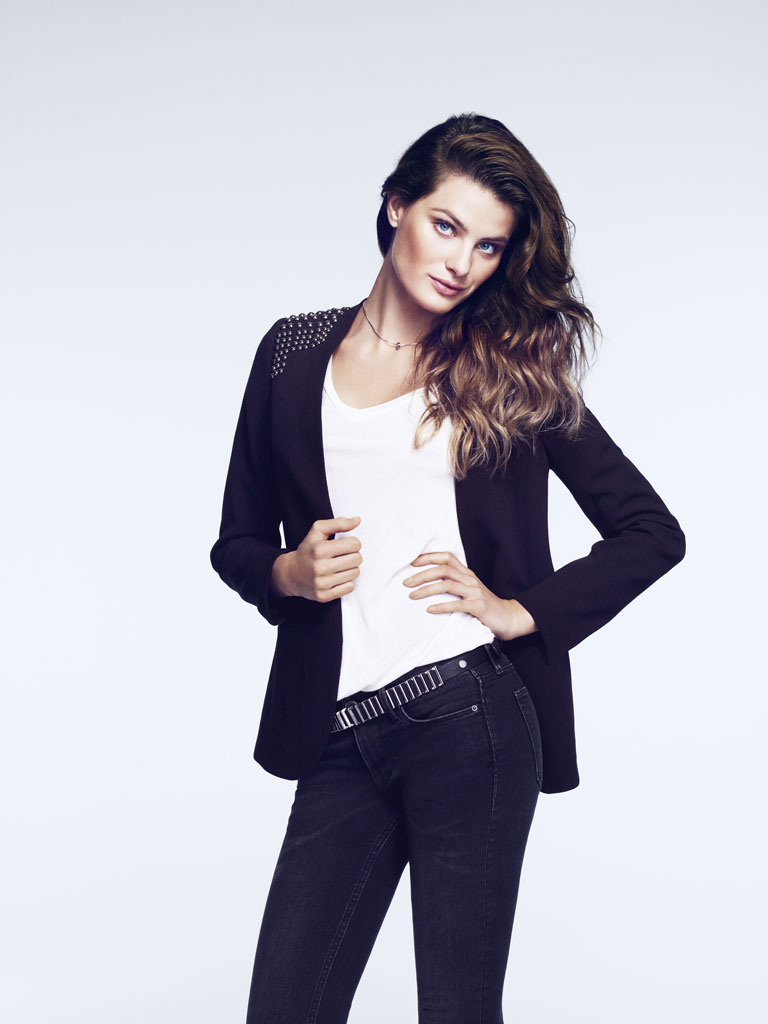 isabeli hm14 Isabeli Fontana Models Outerwear for H&M Shoot by Andrew Yee