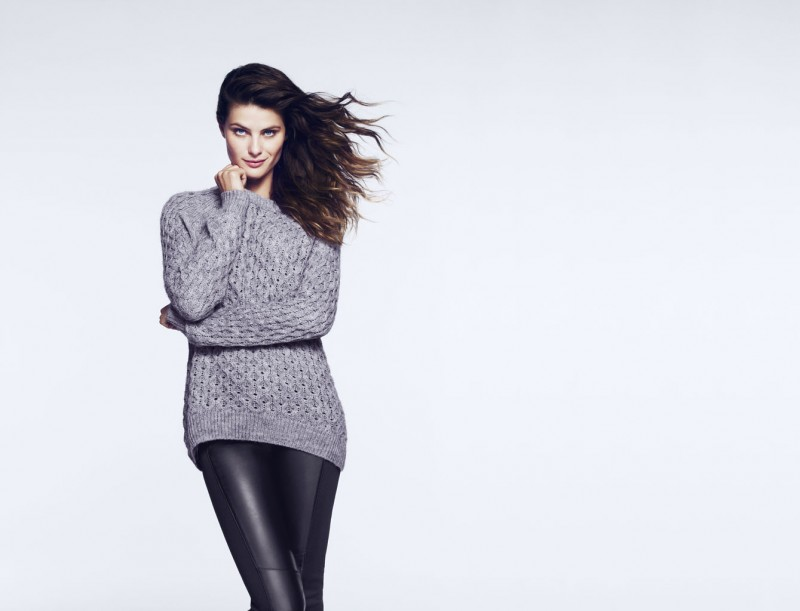 Isabeli Fontana Models Outerwear for H&M Shoot by Andrew Yee