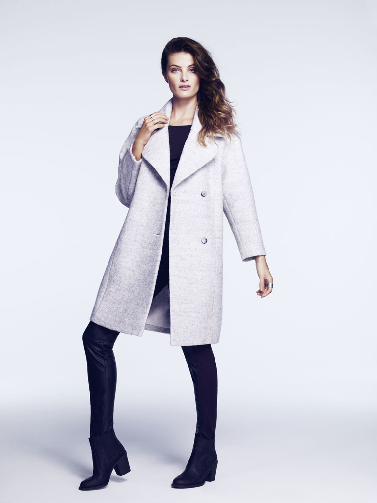 isabeli hm3 Isabeli Fontana Models Outerwear for H&M Shoot by Andrew Yee