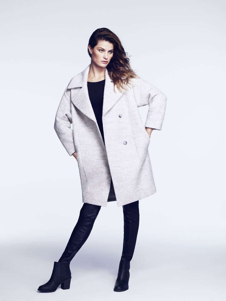 isabeli hm4 Isabeli Fontana Models Outerwear for H&M Shoot by Andrew Yee