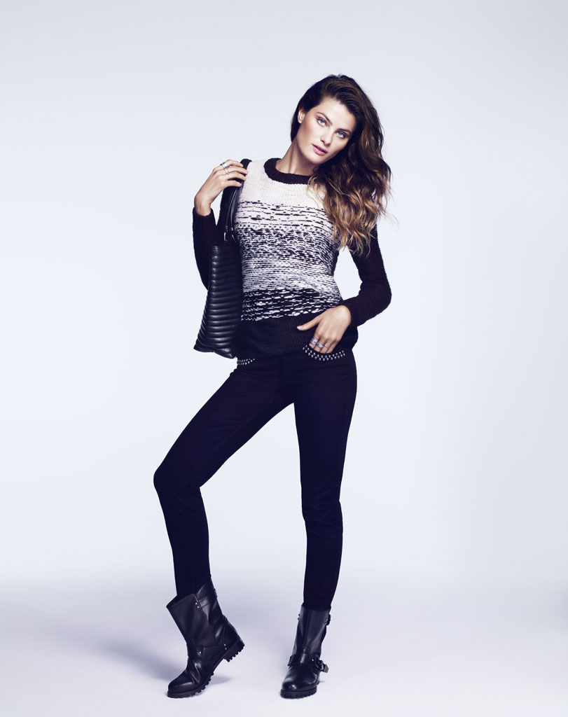 isabeli hm5 Isabeli Fontana Models Outerwear for H&M Shoot by Andrew Yee