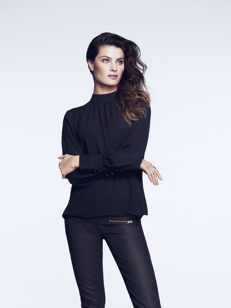 isabeli hm8 Isabeli Fontana Models Outerwear for H&M Shoot by Andrew Yee