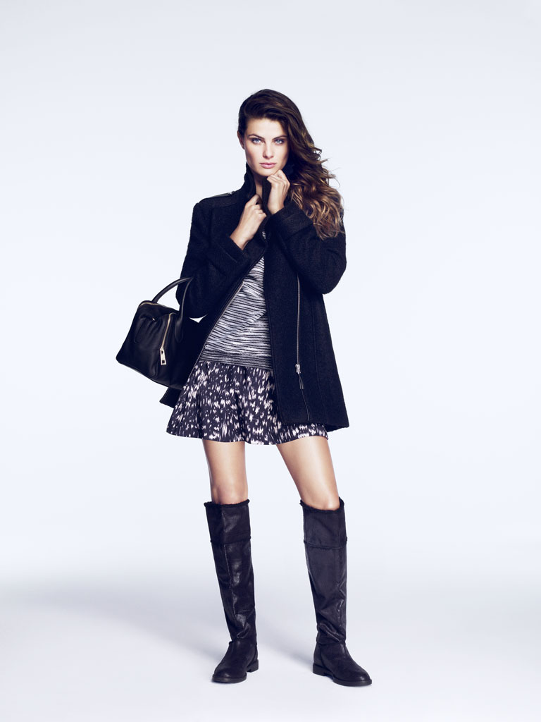 isabeli hm9 Isabeli Fontana Models Outerwear for H&M Shoot by Andrew Yee