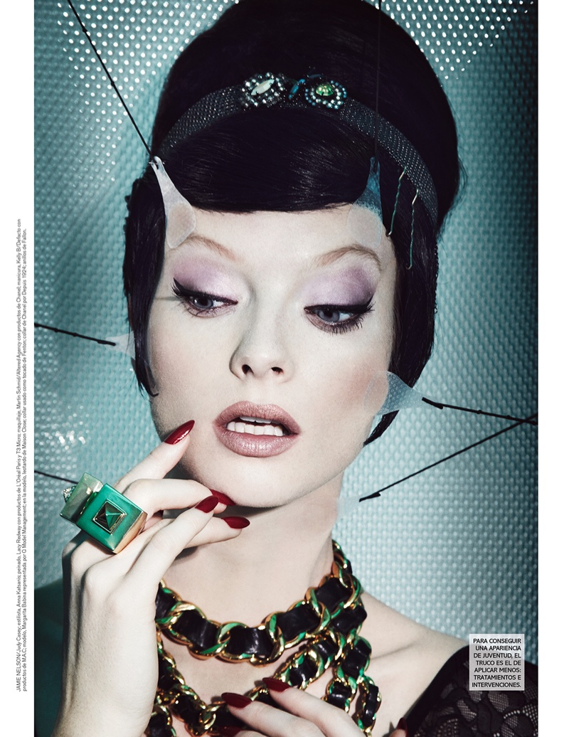 jamie nelson beauty1 Margarita Babina is a Plastic Beauty In Vogue Mexico Shoot by Jamie Nelson