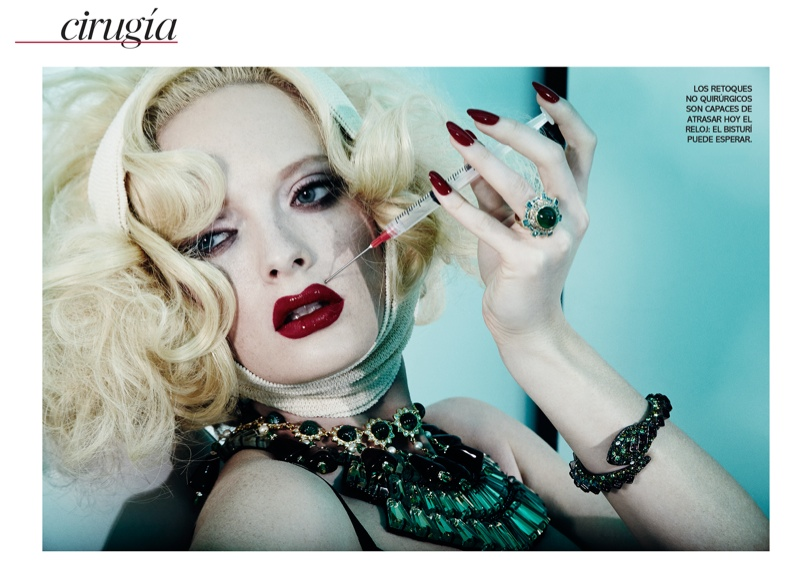 jamie nelson beauty2 Margarita Babina is a Plastic Beauty In Vogue Mexico Shoot by Jamie Nelson