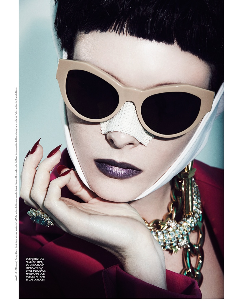 jamie nelson beauty3 Margarita Babina is a Plastic Beauty In Vogue Mexico Shoot by Jamie Nelson