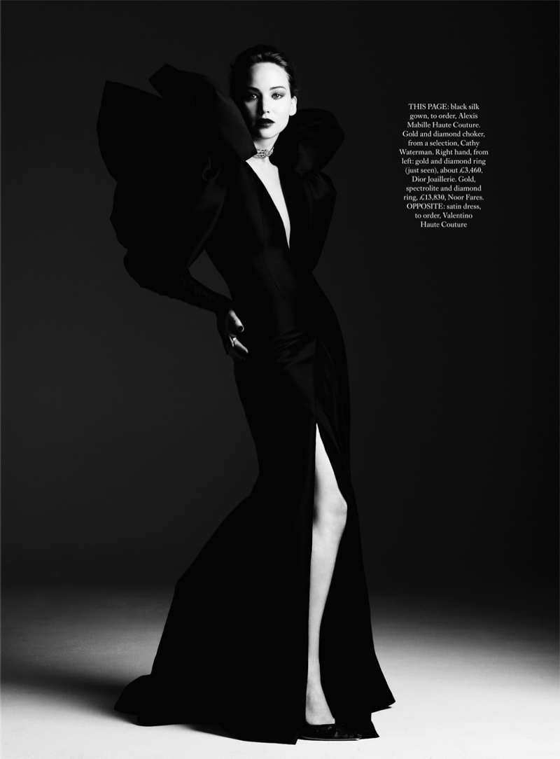 jennifer ben hassett1 Jennifer Lawrence is a Vision for Ben Hassett in Harpers Bazaar UK