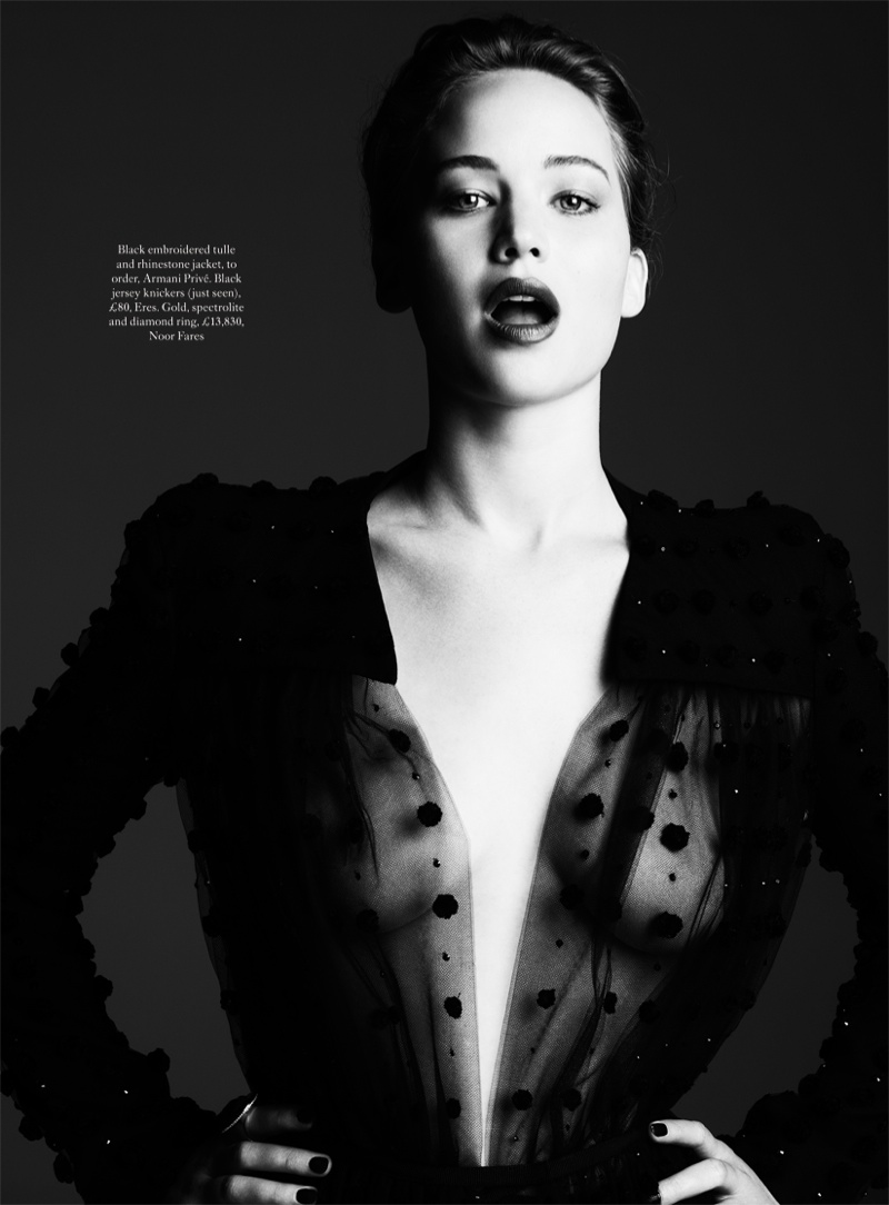 jennifer ben hassett2 Jennifer Lawrence is a Vision for Ben Hassett in Harpers Bazaar UK