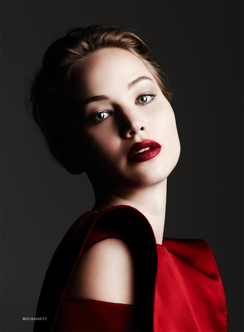 jennifer ben hassett3 Jennifer Lawrence is a Vision for Ben Hassett in Harpers Bazaar UK