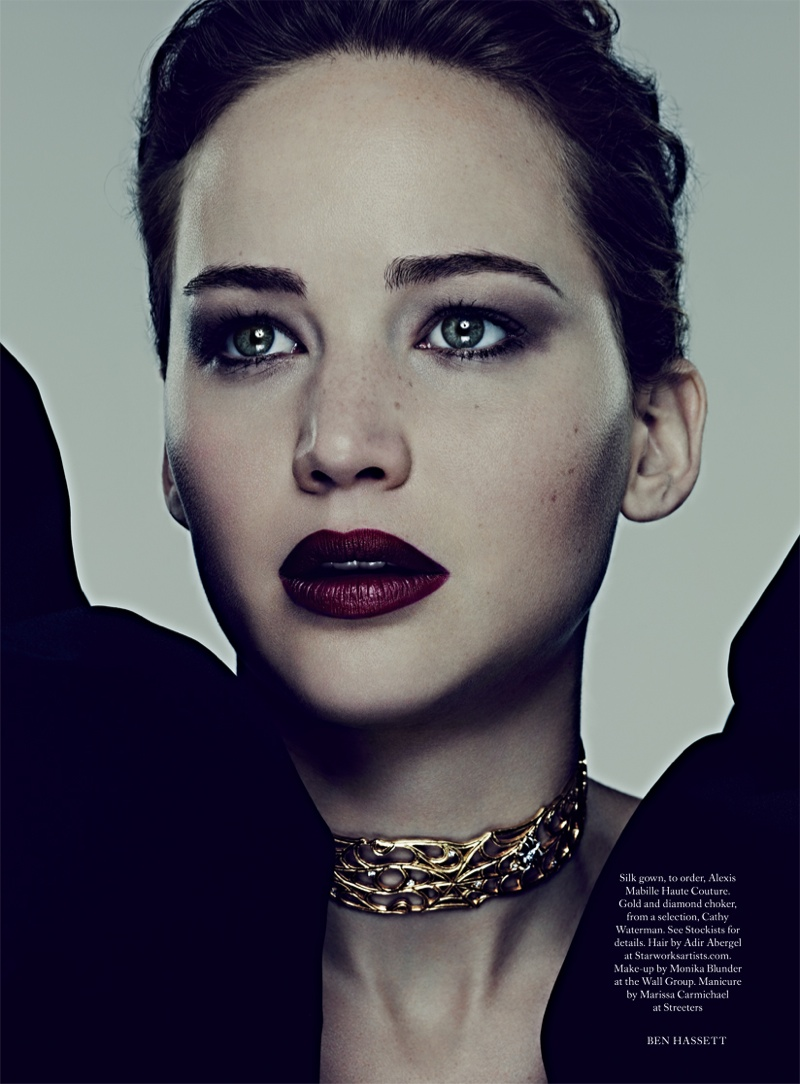 jennifer ben hassett5 Jennifer Lawrence is a Vision for Ben Hassett in Harpers Bazaar UK