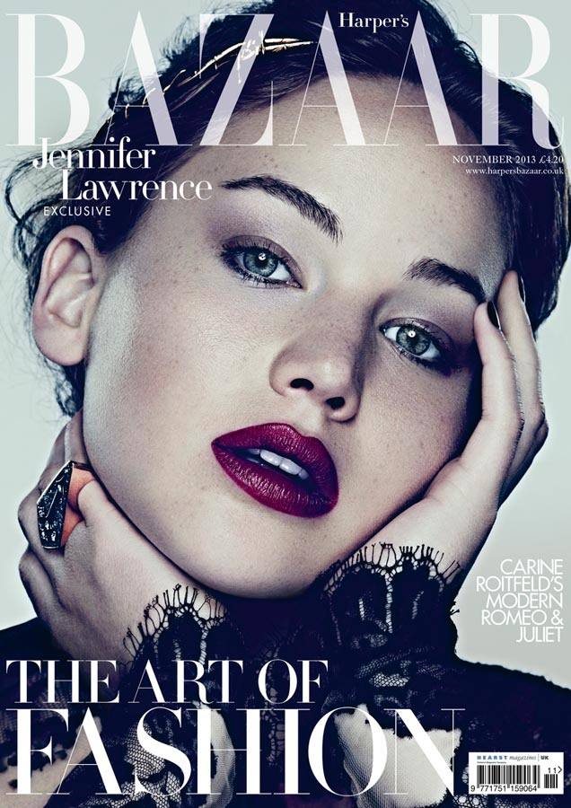 jennifer ben hassett6 Jennifer Lawrence is a Vision for Ben Hassett in Harpers Bazaar UK