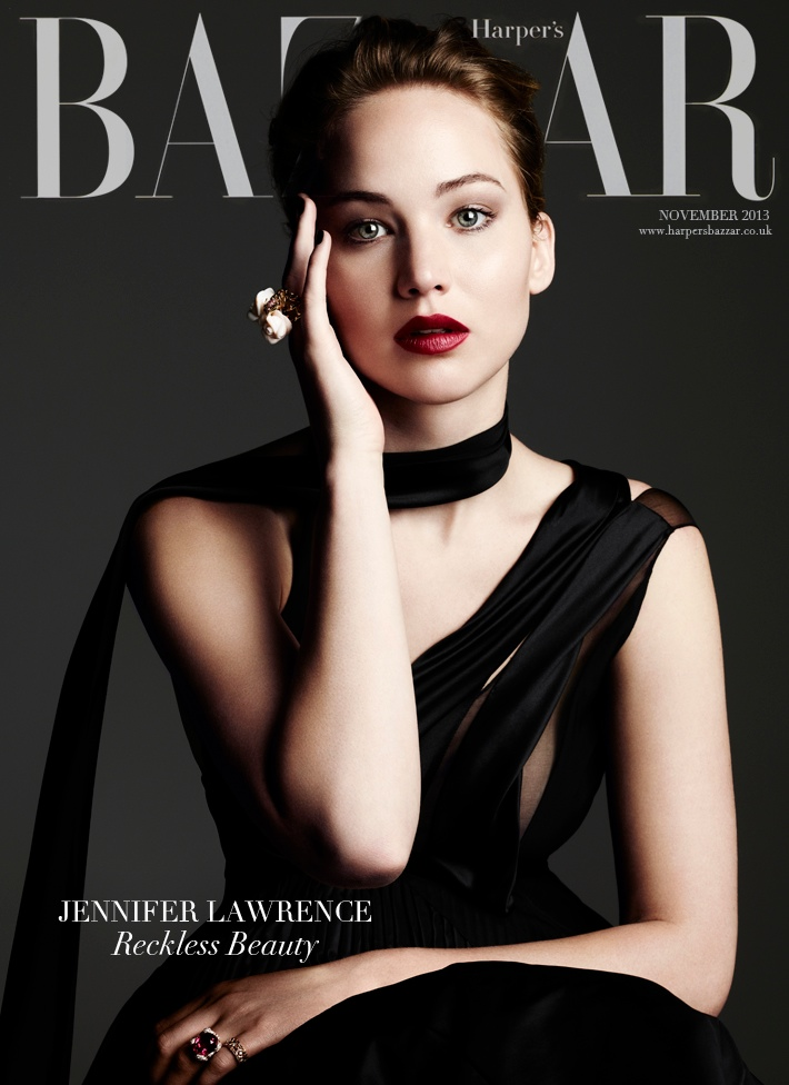 jennifer ben hassett7 Jennifer Lawrence is a Vision for Ben Hassett in Harpers Bazaar UK