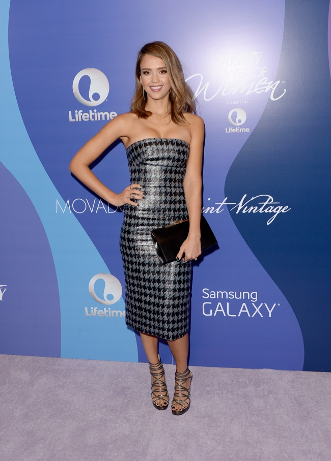 jessica alba dior 2013 1 Jessica Alba Wears Dior at Varietys 5th Annual Power of Women Event
