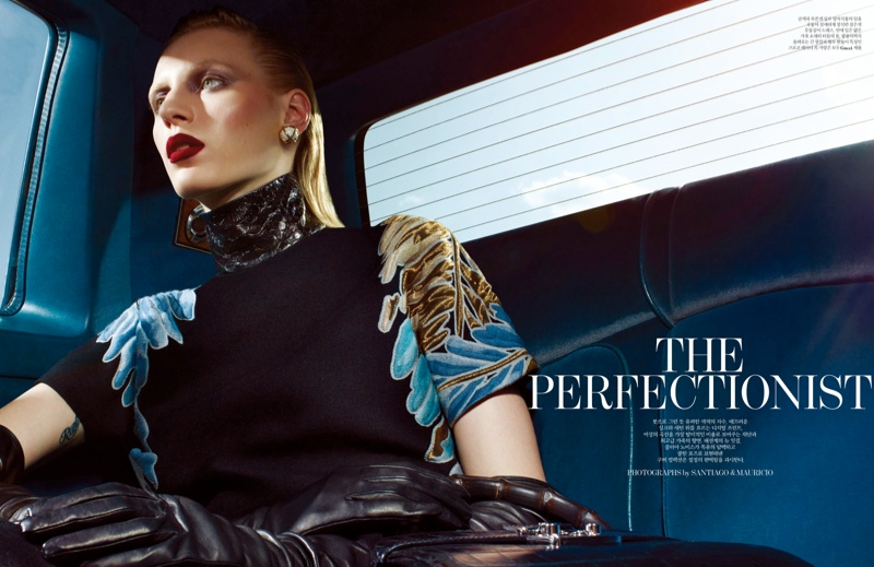 julia nobis w shoot1 Julia Nobis Models Gucci for Santiago & Mauricio in W Korea Spread