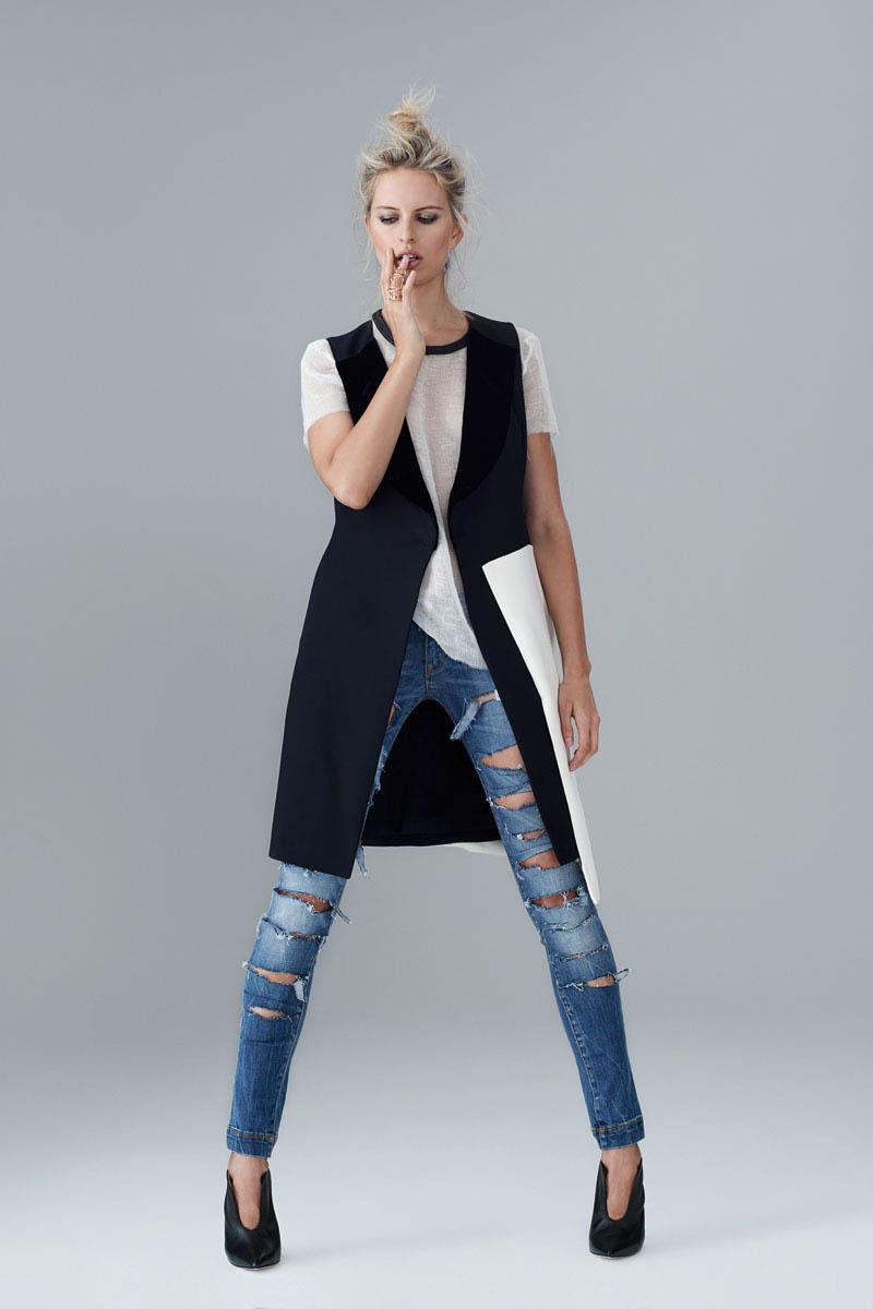 Karolina Kurkova Stuns in Denim for S Moda Shoot by Eric Guillemain