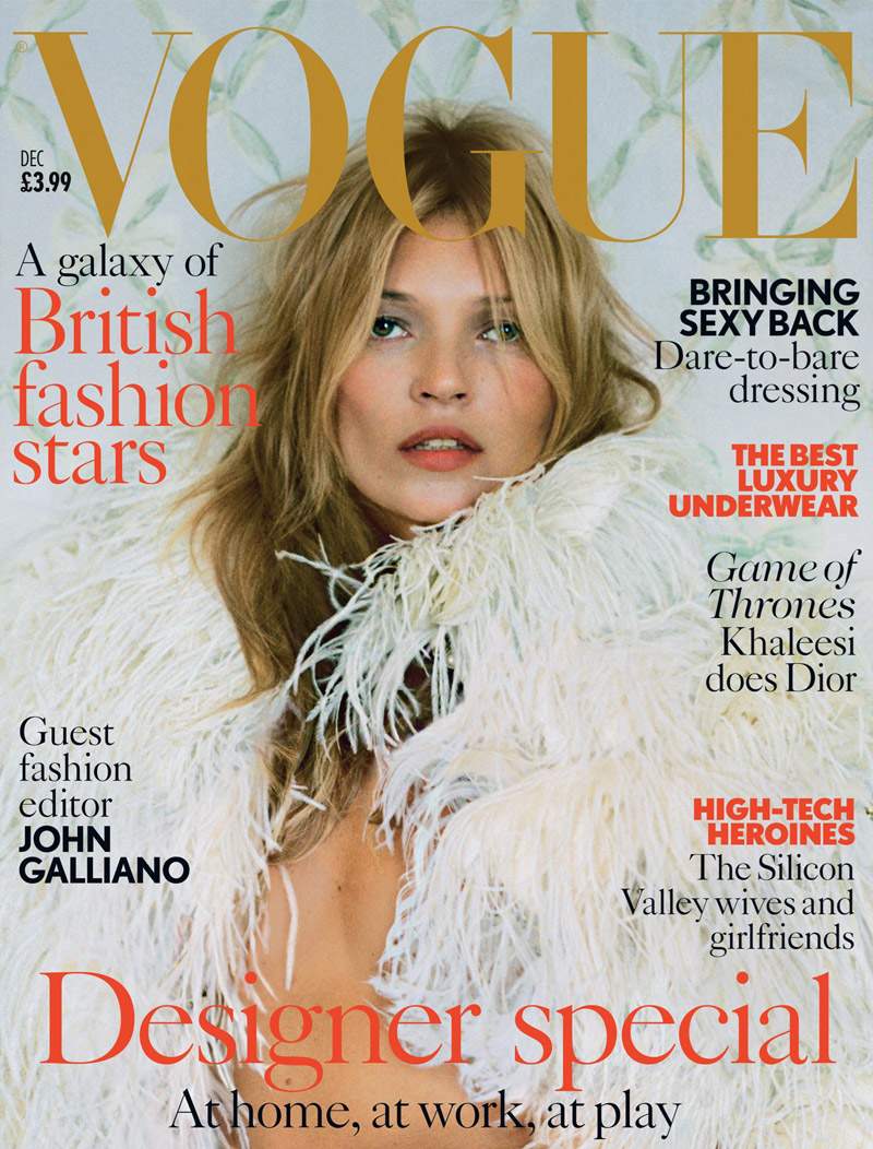 kate moss timwalker cover Kate Moss Stuns in McQueen for Vogue UKs December 2013 Cover