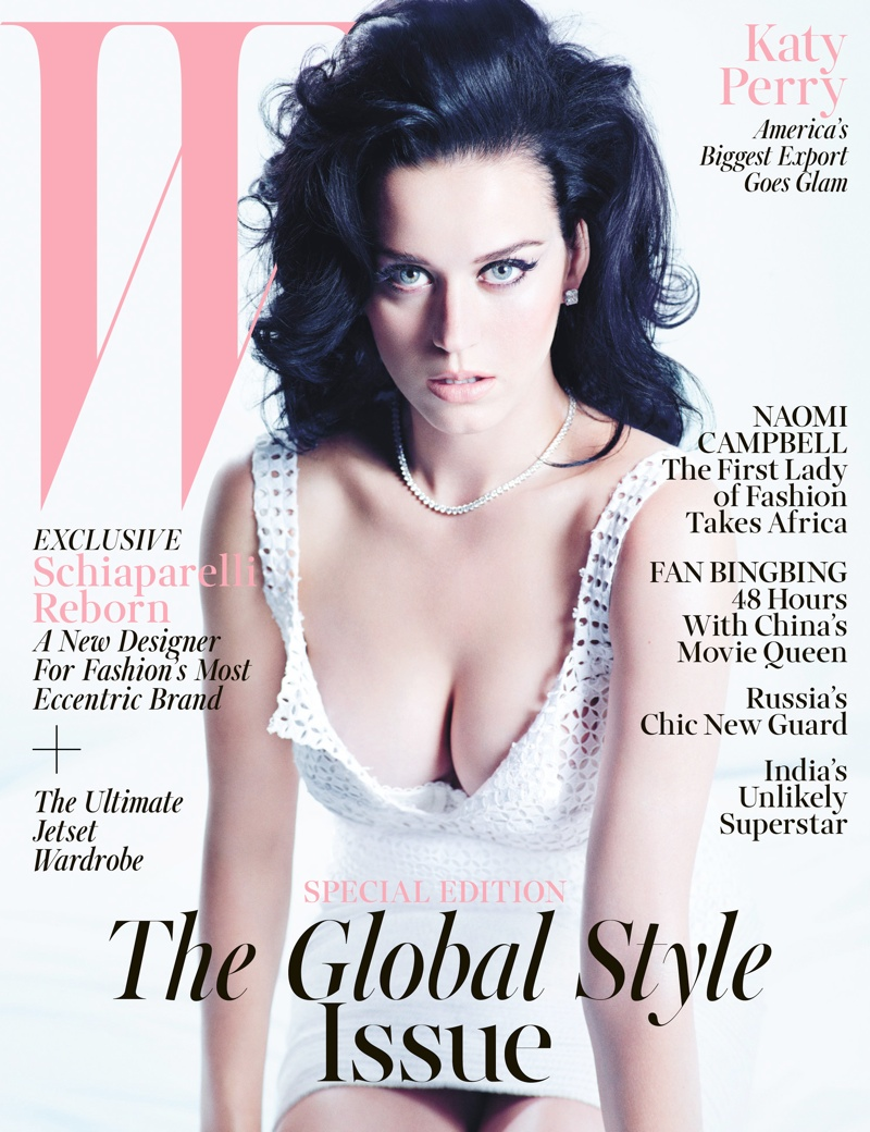 katy perry mario sorrenti2 Katy Perry Gets Sultry for November 2013 Cover Story of W Magazine