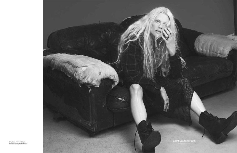 Kristen McMenamy Gets Grunge in Saint Laurent for Zoo #40 by Dancian