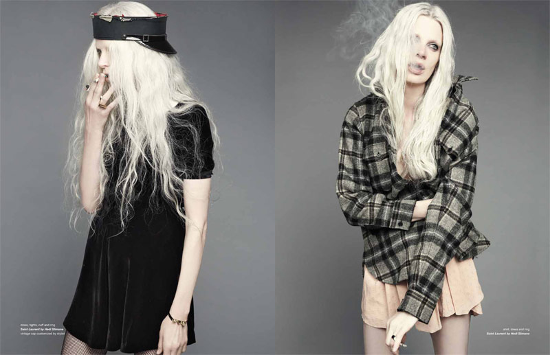 kristen mcmenamy dancian2 Kristen McMenamy Gets Grunge in Saint Laurent for Zoo #40 by Dancian