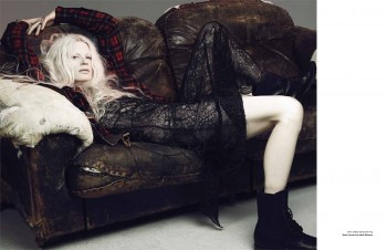 Kristen McMenamy Gets Grunge in Saint Laurent for Zoo #40 by Dancian