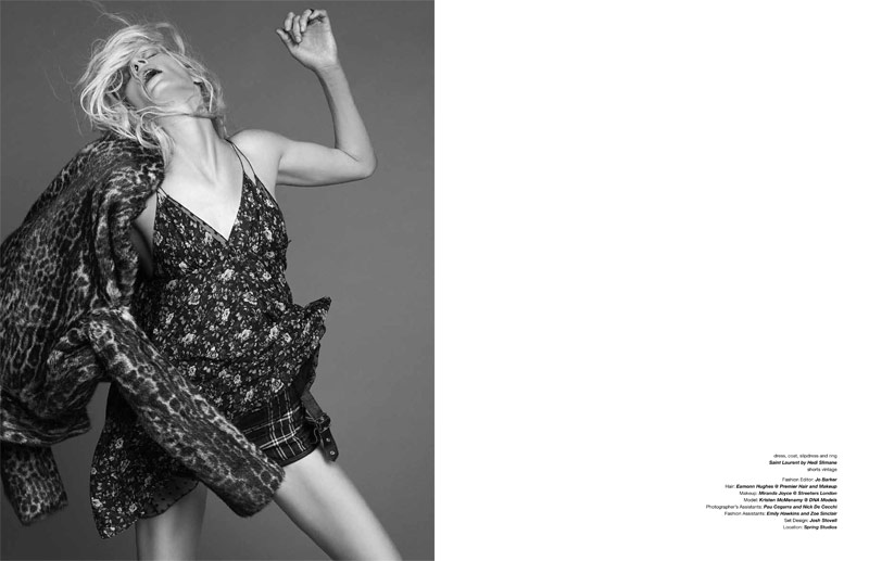 kristen mcmenamy dancian9 Kristen McMenamy Gets Grunge in Saint Laurent for Zoo #40 by Dancian