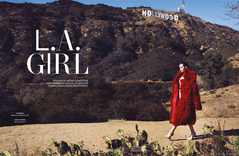 la girl1 Staz Lindes is a L.A. Girl for LOfficiel Turkey by Mehmet Erzincan