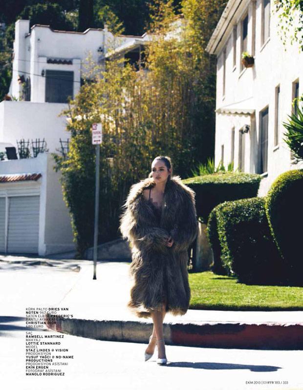 Staz Lindes is a L.A. Girl for L'Officiel Turkey by Mehmet Erzincan