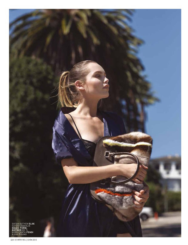 la girl2 Staz Lindes is a L.A. Girl for LOfficiel Turkey by Mehmet Erzincan
