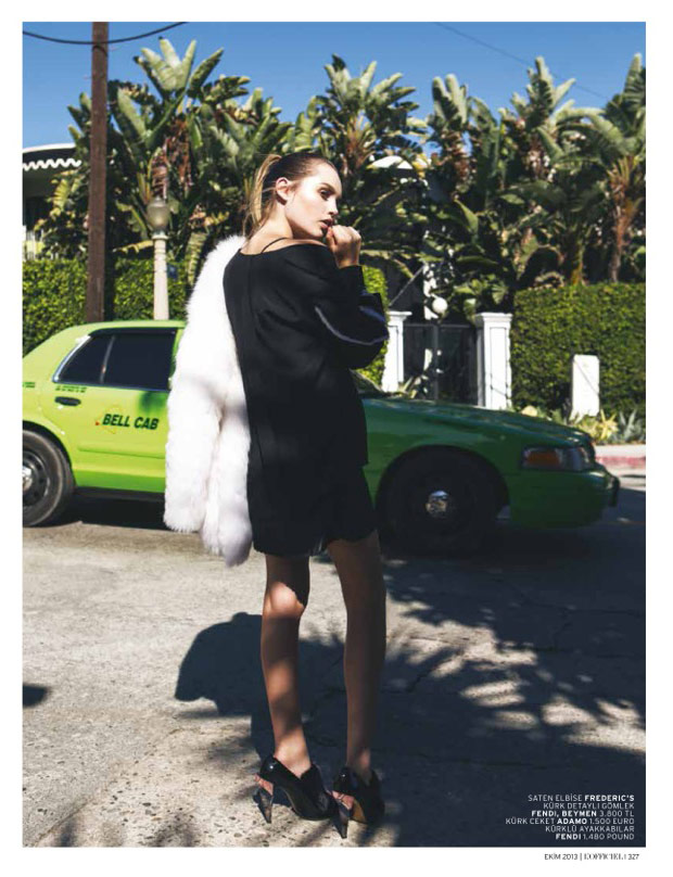 la girl5 Staz Lindes is a L.A. Girl for LOfficiel Turkey by Mehmet Erzincan