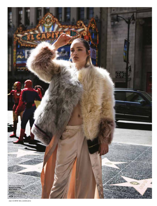 la girl9 Staz Lindes is a L.A. Girl for LOfficiel Turkey by Mehmet Erzincan