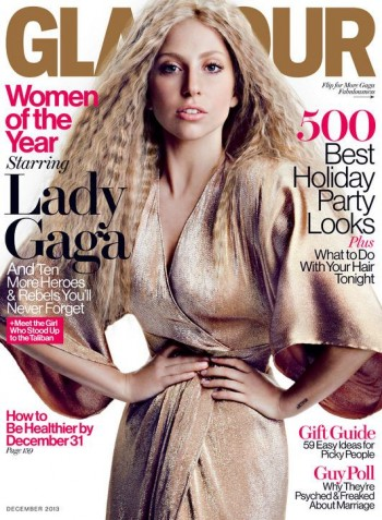 Lady Gaga Covers Glamour's December 2013 Issue