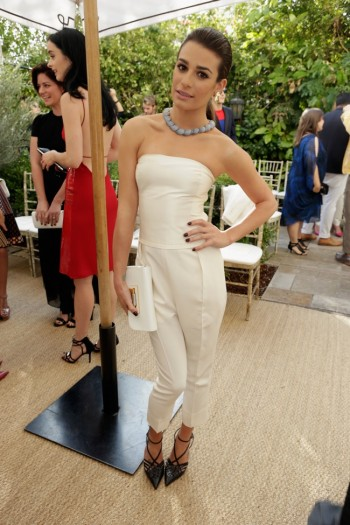 Lea Michele Wears Calvin Klein Collection at CFDA/Vogue Fashion Fund event